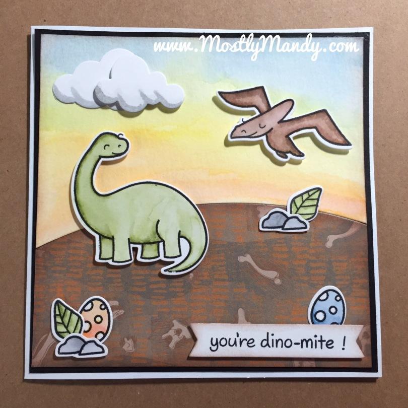 Dinosaur, Lawn Fawn, Handmade, Card